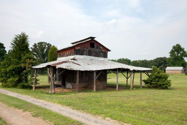 Old barn in rural North Carolina