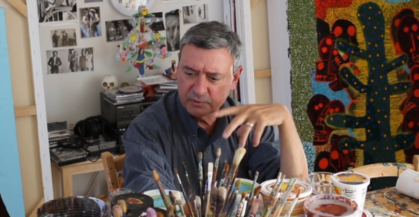 Russ Warren in his Studio
