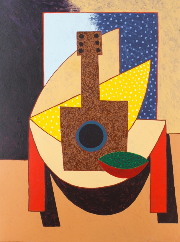 Still Life with Guitar and Melon