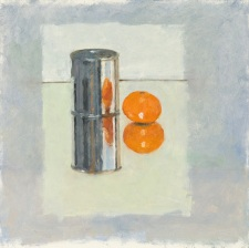 32 A Narcissistic Tangerine, 2013, oil on board, 12 x 12